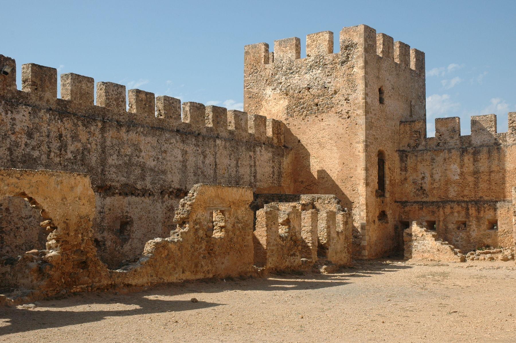 Frangokastelo castle walls