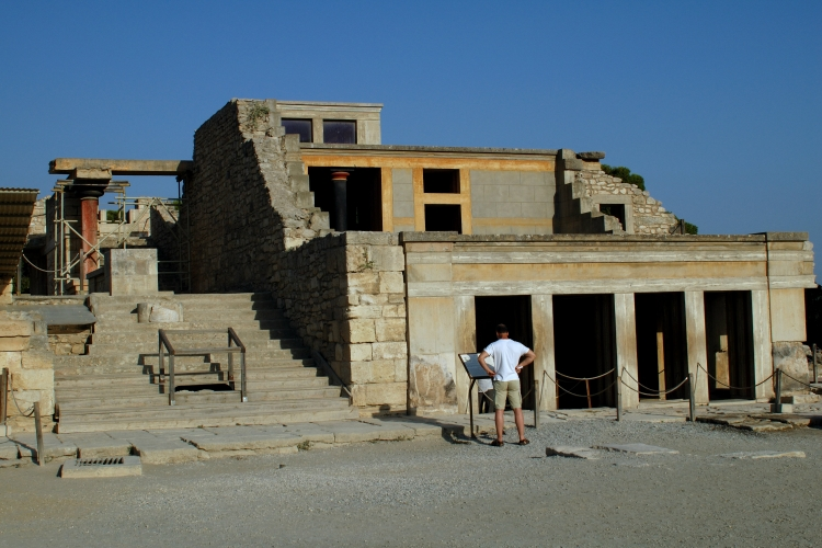 Knossos Throne room outside