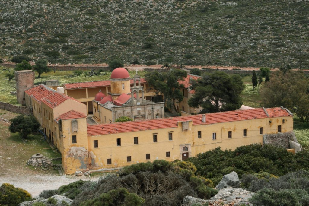 Gouverneto Monastery from above