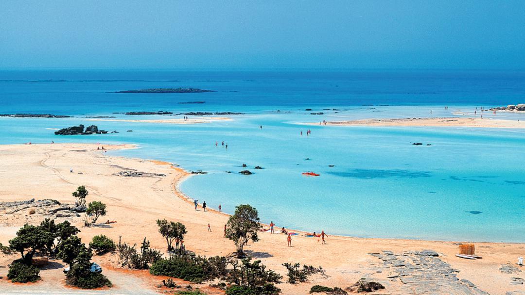Aerial photo of Elafonissi Beach