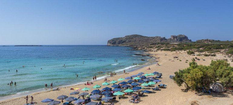 Falasarna beach from above