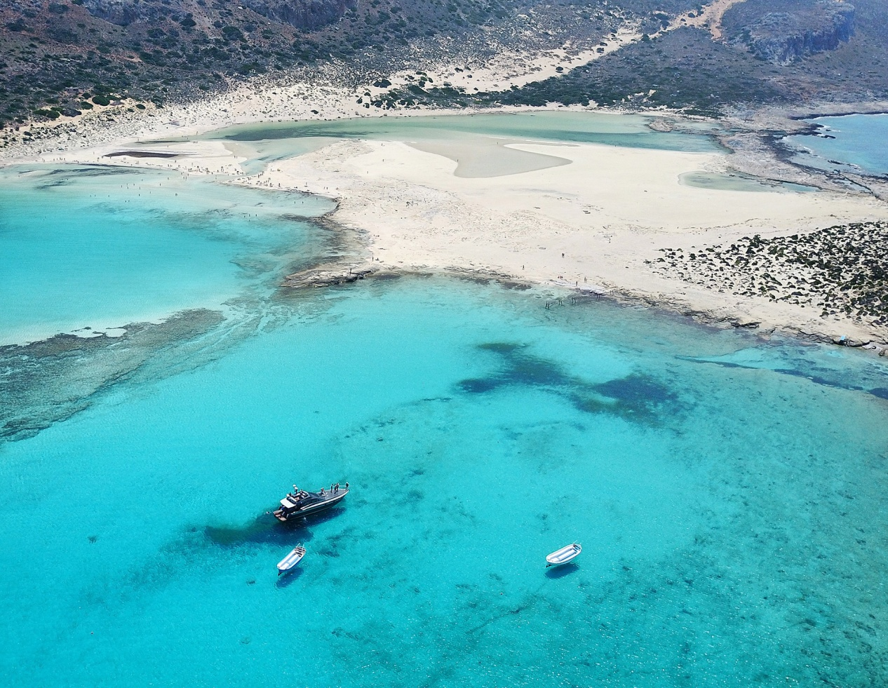 Aerial photography of Balos lagoon