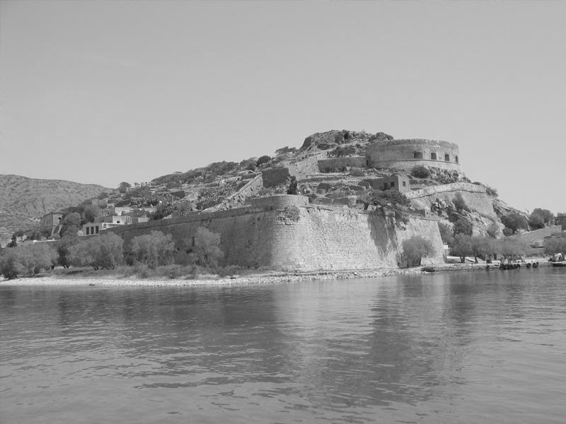 Spinalonga island Crete old Photo