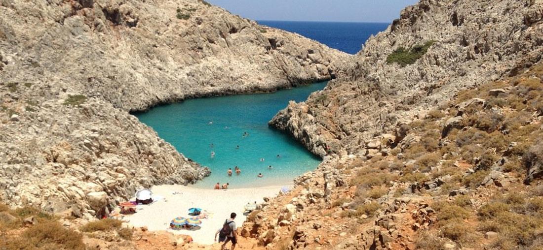 The beach of Seitan Limania